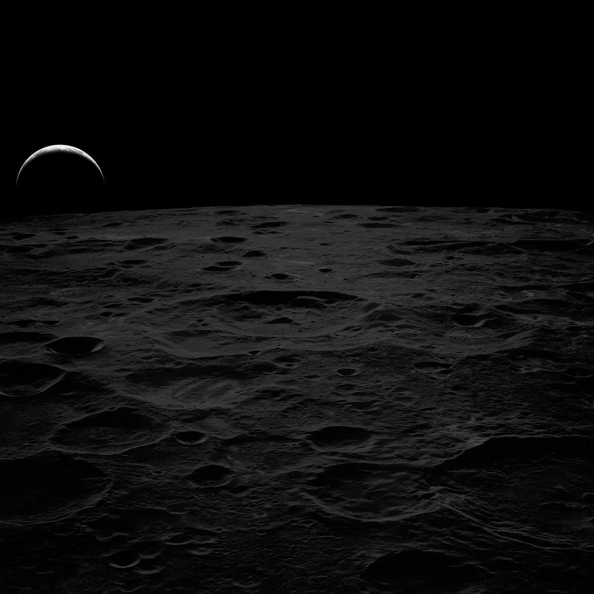 La Luna e la Terra fotografate dall'Apollo 14