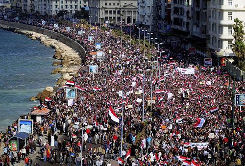 Manifestazioni ad Alessandria d'Egitto