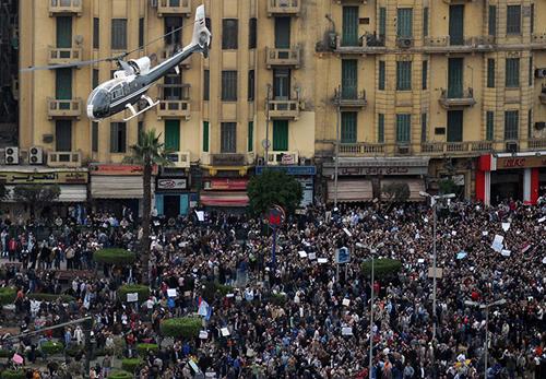 Manifestazione a piazza Tahrir