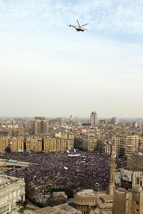 Veduta aerea di piazza Tahrir