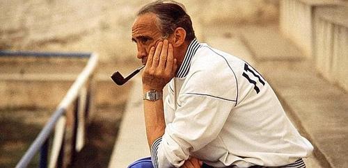 Enzo Bearzot al ritorno dalla vittoria mondiale nel 1982