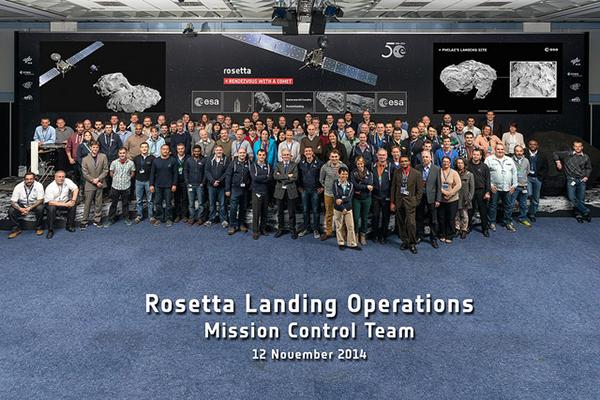 Il team ESA di Rosetta