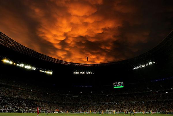 Temporale su Ucraina-Francia a Euro 2012
