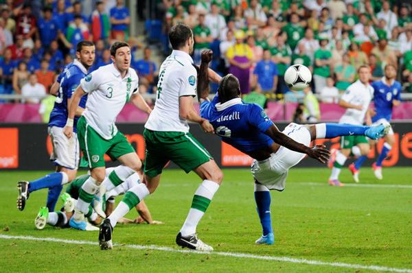 Il gol di Balotelli contro l'Irlanda a Euro 2012