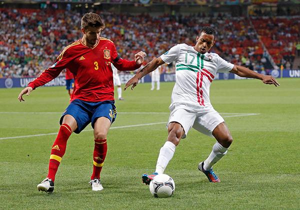 Gerard Piqué e Nani a Euro 2012