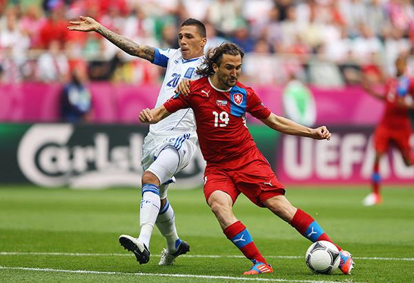 Petr Jiracek contro Kostas Chalkias in Grecia Repubblica Ceca