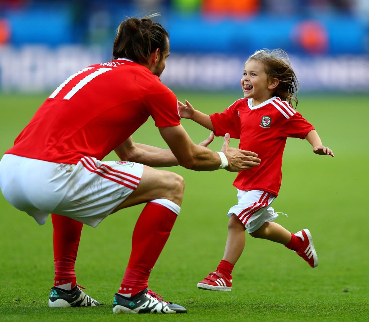 Gareth Bale e la figlia a Euro 2016
