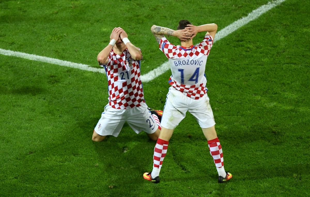 La disperazione dei giocatori della Croazia a Euro 2016