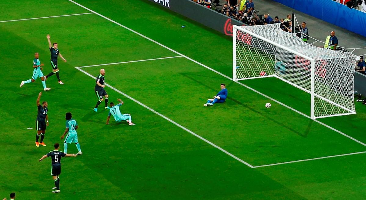 Nani segna contro il Galles a Euro 2016