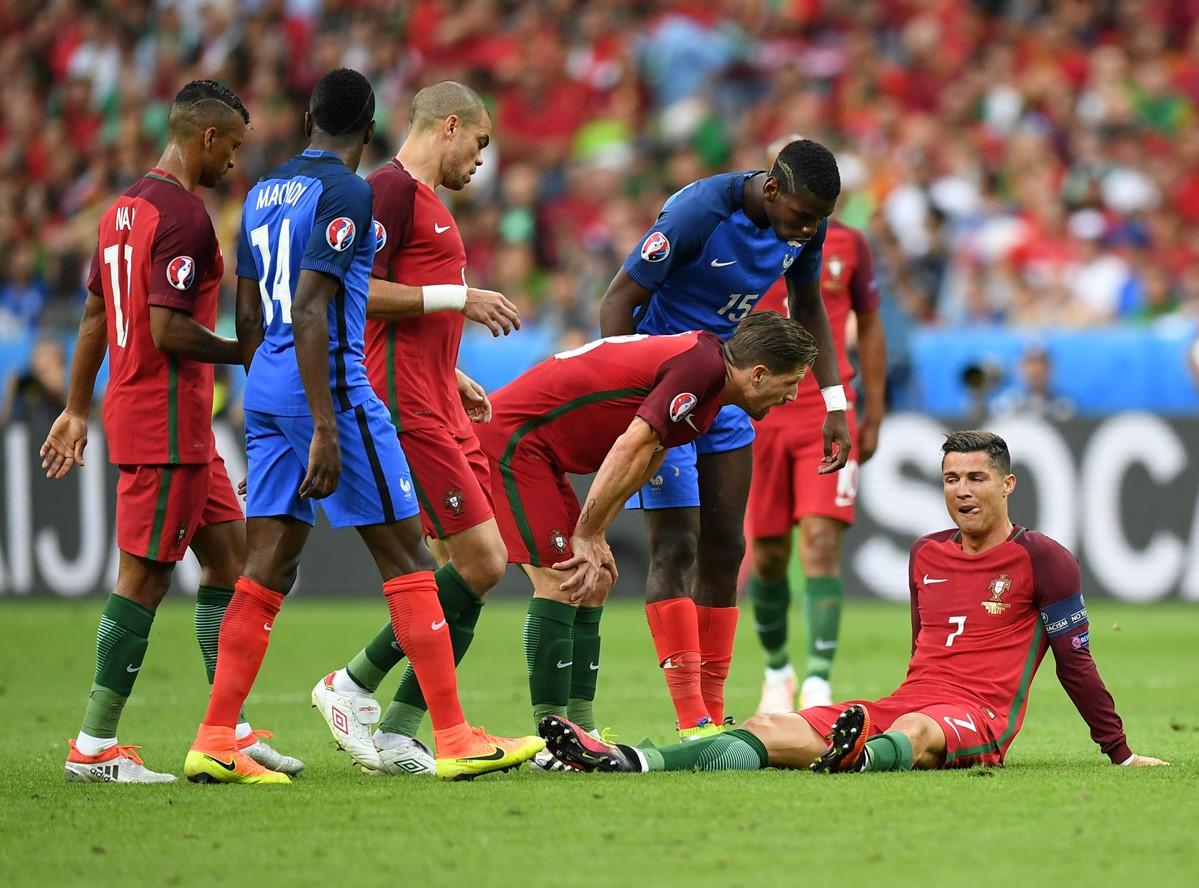 Cristiano Ronaldo duante la finale di Euro 2016