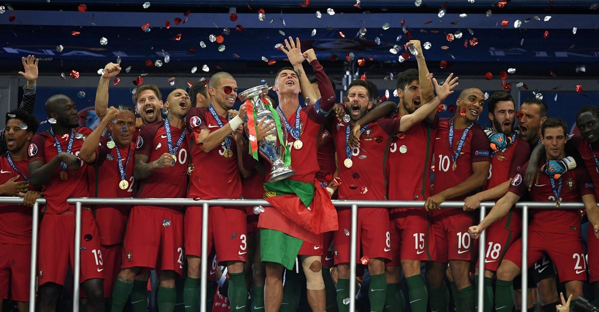 Cristiano Ronaldo durante la finale di Euro 2016