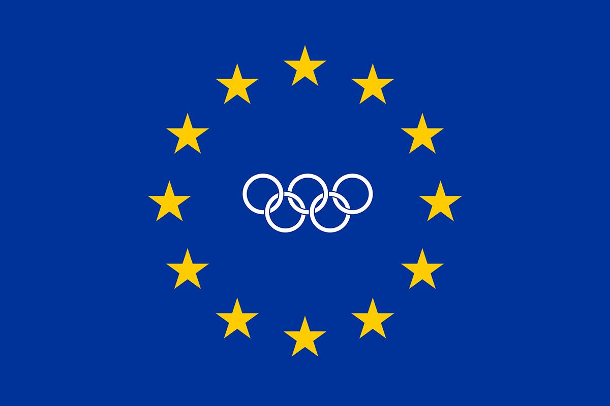 Bandiera olimpica dell'Unione Europea