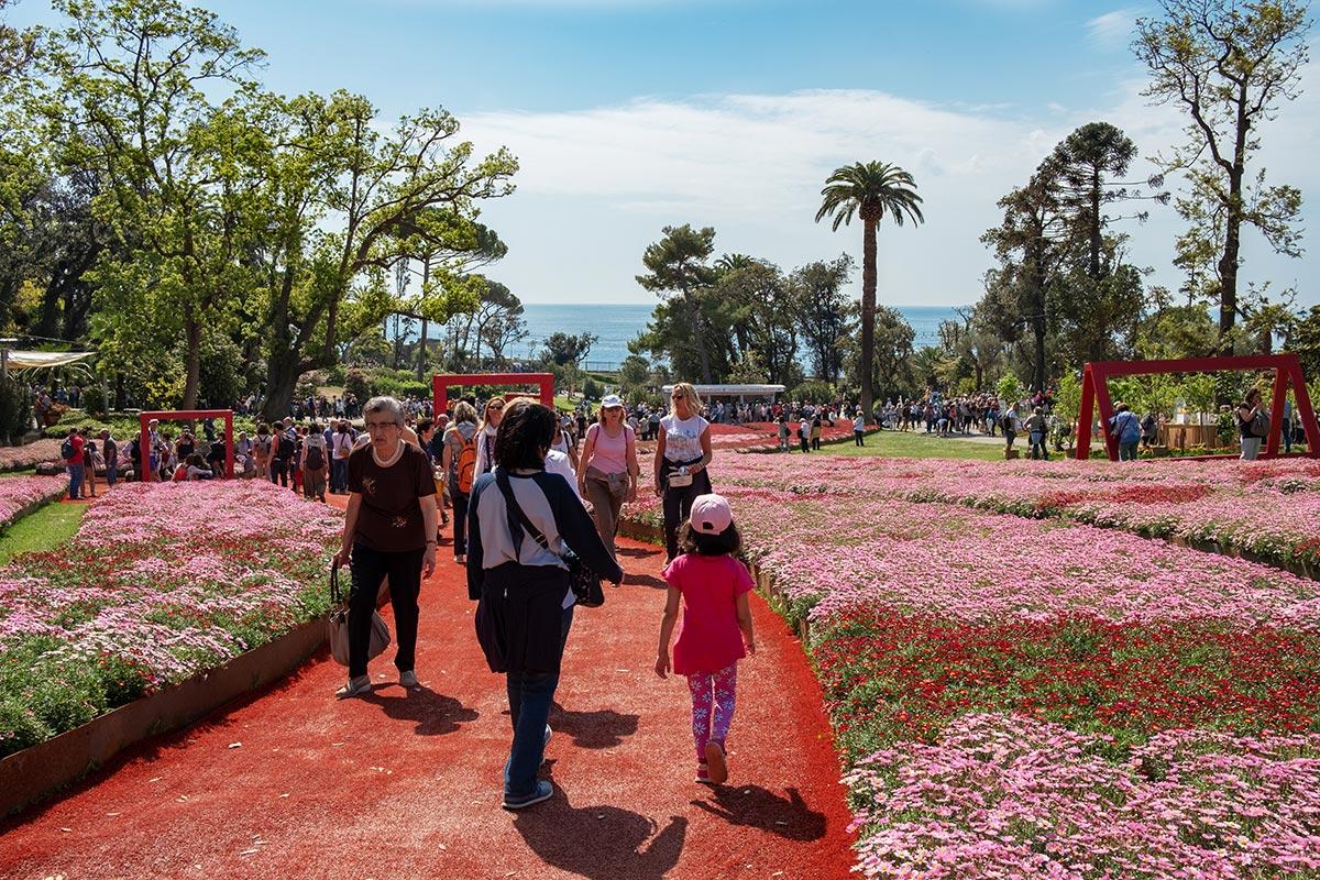 Scendere verso il mare nel parco di Villa Serra, Euroflora 2018