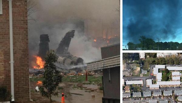 Un F18 della Marina si è schiantato su un edificio in Virginia