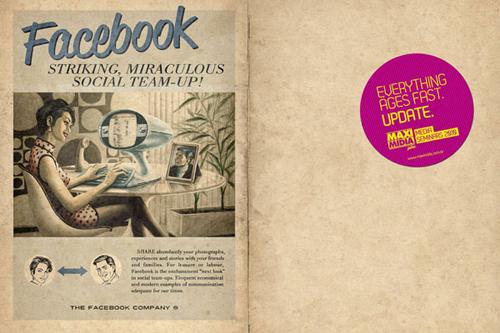 La campagna pubblicitaria su Facebook in stile anni cinquanta