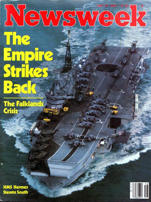 La copertina di Newsweek sulla crisi delle Falkland