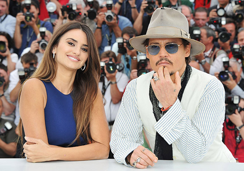 Penelope Cruz e Johnny Depp