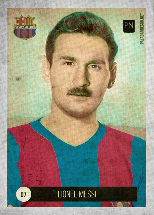 Figurina di Messi retro