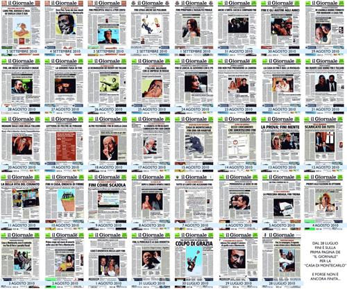 Le pagine de Il Giornale su Fini