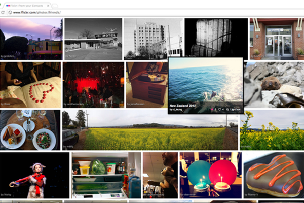 Screenshot di Flickr