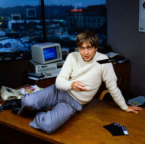 Bill Gates e i floppy disk