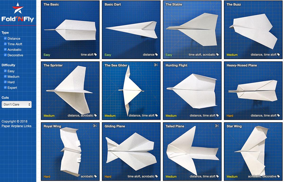 Aerei di carta su Fold N Fly