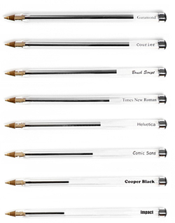 L'inchiostro rimasto nelle penne, un grafico con l'inchiostr