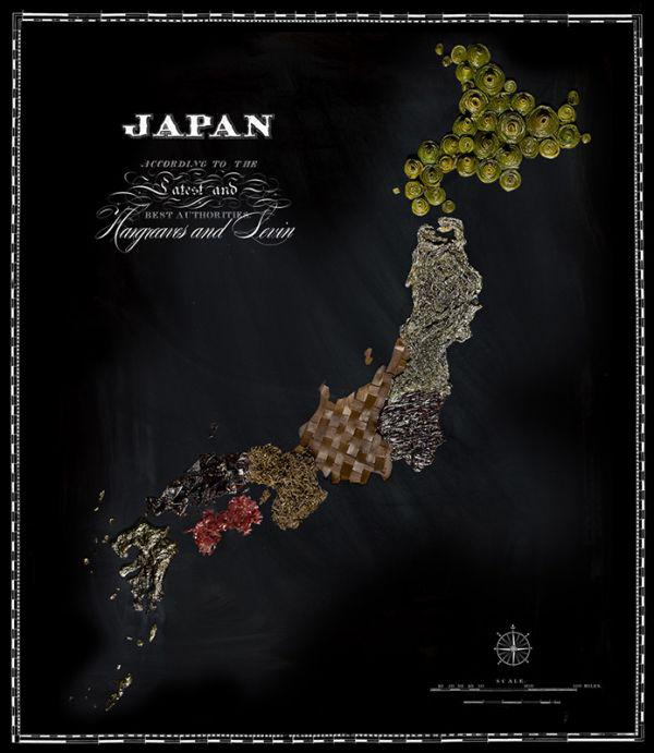 La mappa del cibo in Giappone
