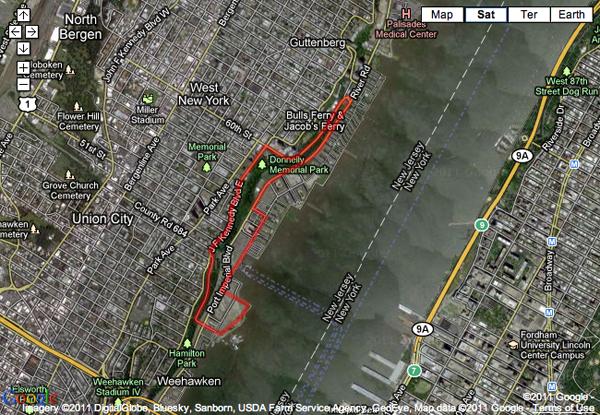 La mappa del circuito di Formula 1 in New Jersey