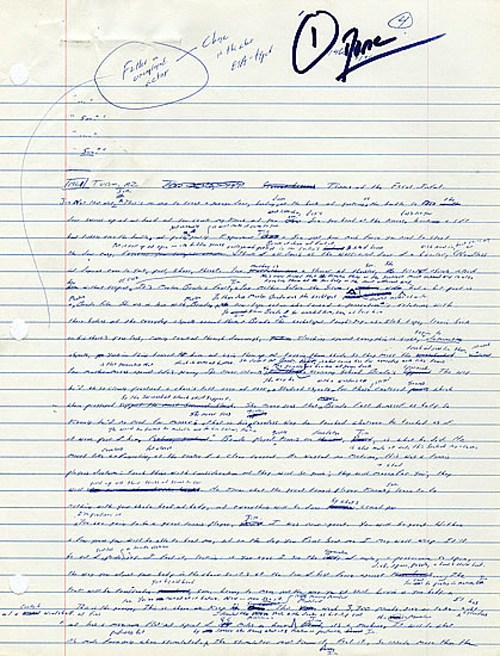 Il manoscritto di David Foster Wallace di 'Infinite Jest'