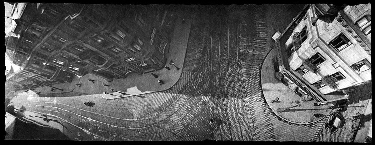 Fotografia aerea scattata grazie all'impiego di un piccione
