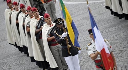 La parata militare in occasione del 14 luglio a Parigi