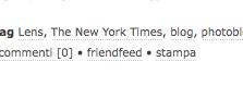 Screenshot della nuova funzionalità FriendFeed su TLUC Blog