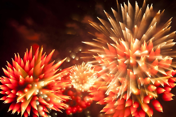 I fuochi d'artificio fotografati da Davi Johnson