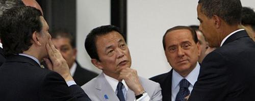 Berlusconi al G8 dell'Aquila