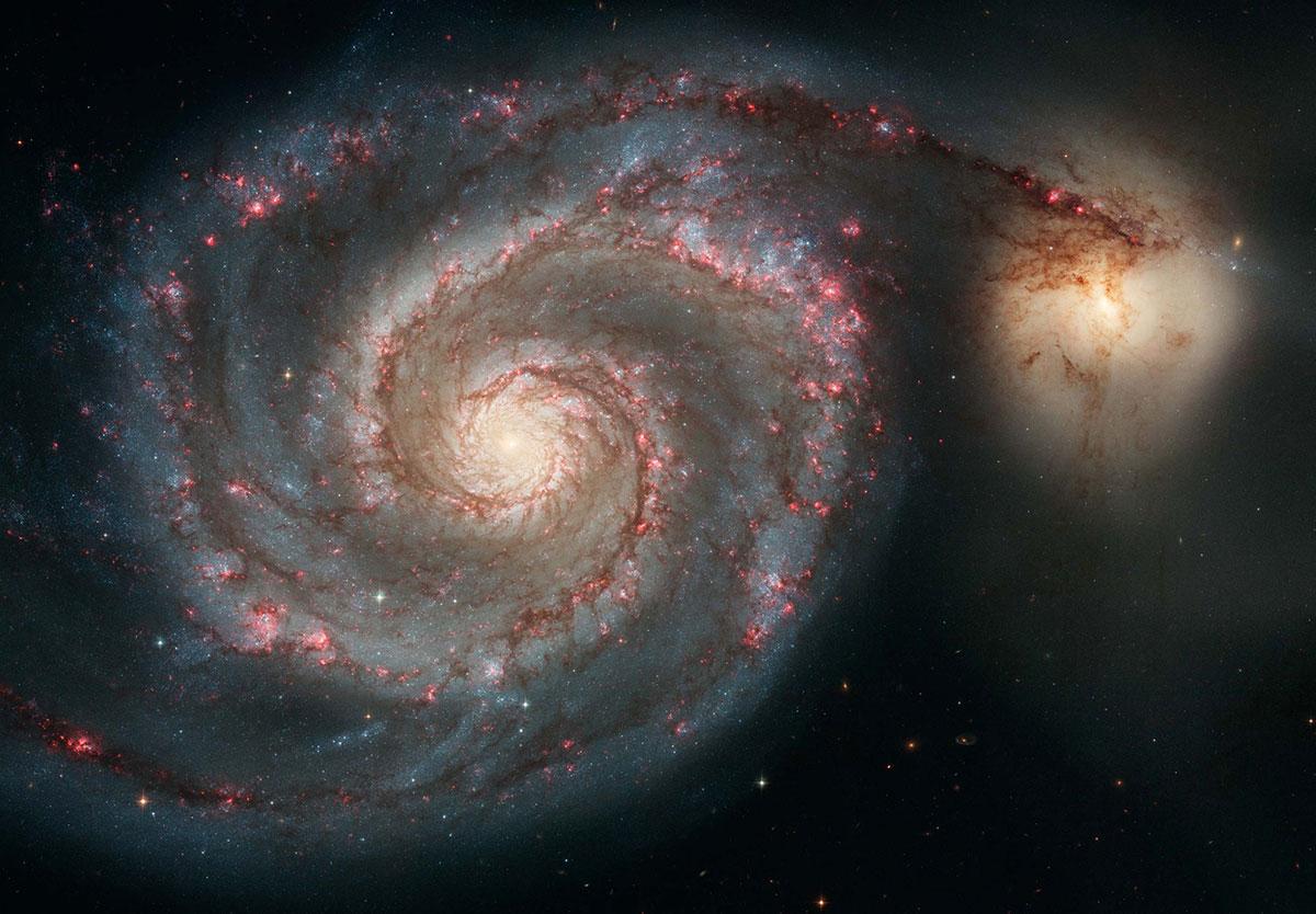 La galassia Vortice e NGC 5195