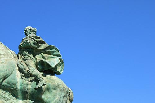 La statua di Garibaldi a Savona