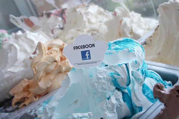 Gelato al gusto Facebook