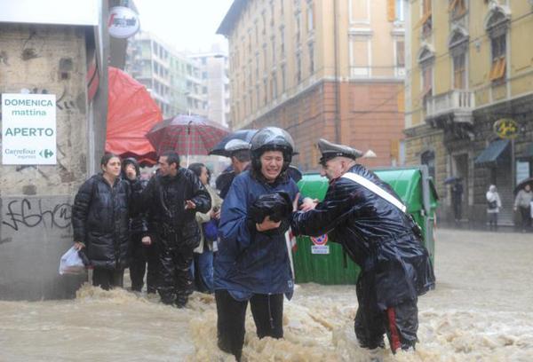 Genova sott'acqua
