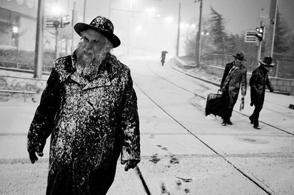 Gerusalemme sotto la neve