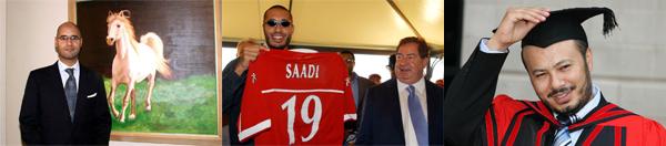 Saif al-Islam, Saadi e Muhammad Gheddafi