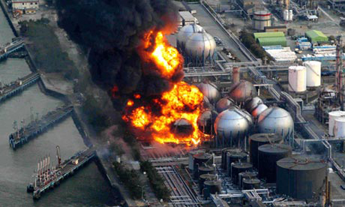 L'incendio nella raffineria di Ichihara
