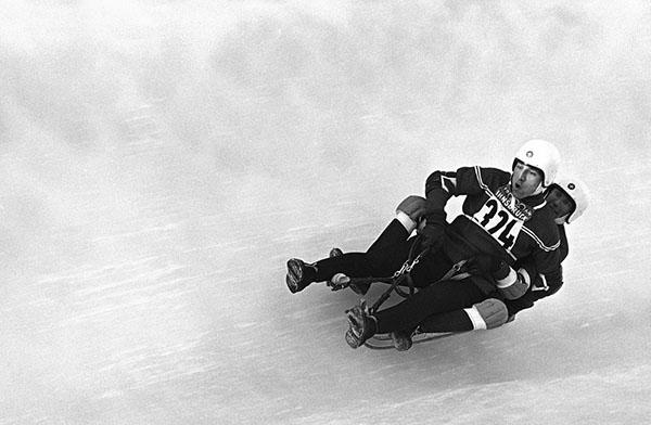 Il doppio americano di slittino a Innsbruck 1964