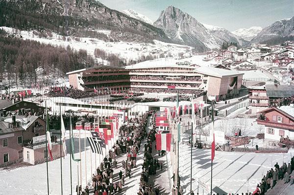 Stadio del ghiaccio di Cortina d'Ampezzo 1956