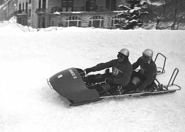 Bobbisti francesi a St. Moritz 1948