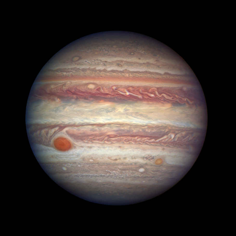 Giove fotografato dal telescopio spaziale Hubble