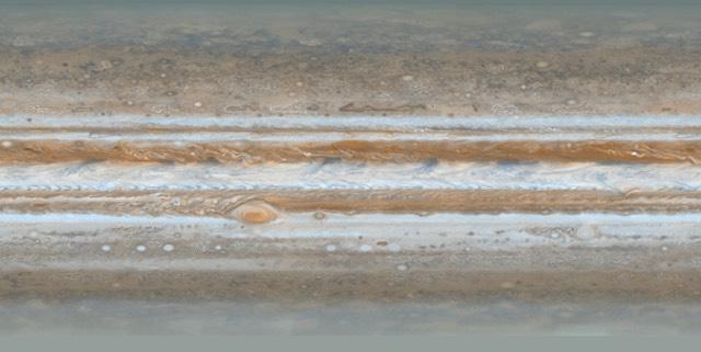 Mappa atmosferica di Giove