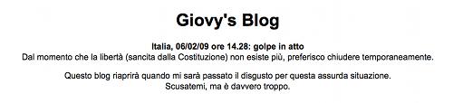 Giovy chiude il blog
