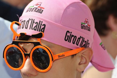 Tifoso all'arrivo del Giro d'Italia
