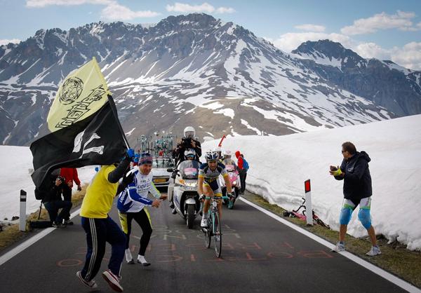 Thomas De Gendt sullo Stelvio al Giro 2012